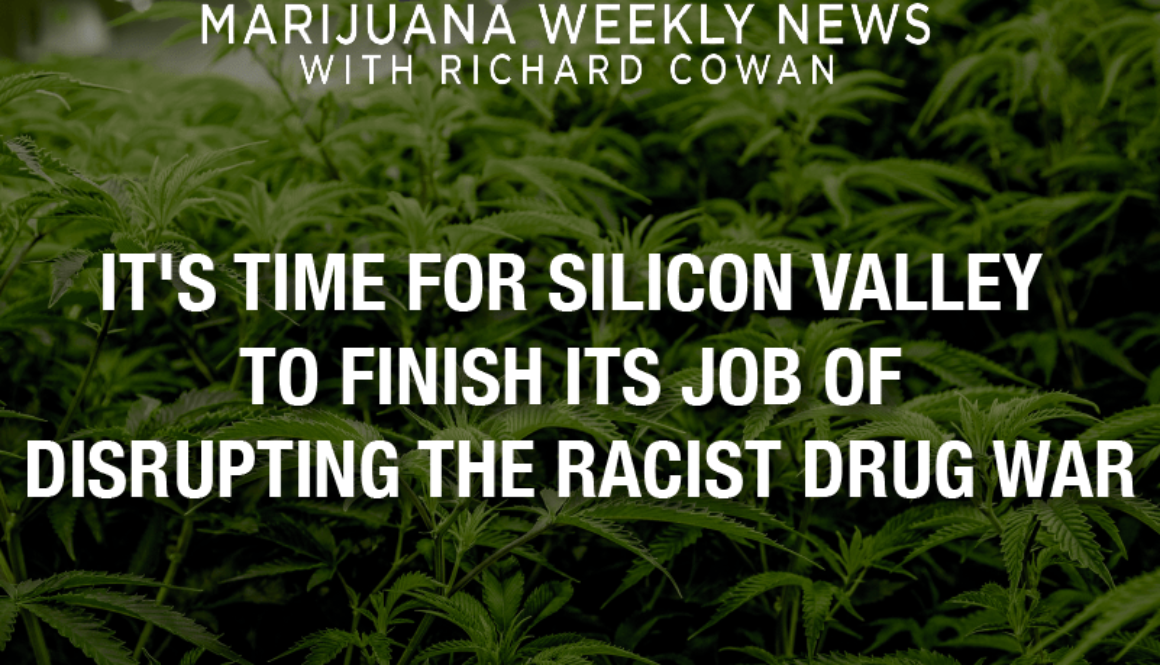 It's Time for Silicon Valley To Complete Its Task of Disrupting the Racist Drug War